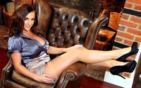 Обои girl, woman, model, sexy, heels, legs, Stacey Poole