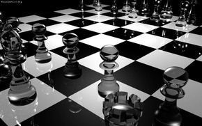 Обои стекло, доска, шахматы