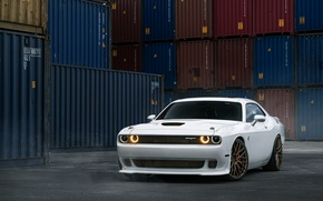 Картинка car, dodge challenger, William Stern, White Hellcat