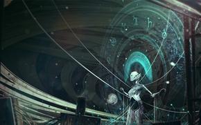 Картинка фантастика, символы, robot, machine
