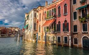 Картинка вода, дома, канал, венеция