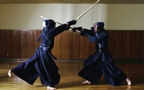 Картинка путь, настроение, вместе, меч, размытость, искусство, девушек, катаны, поединок, двух, вместо, используется, тренировочный, японское, спортивное, …