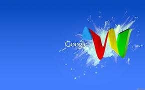 Обои краска, google, гугл