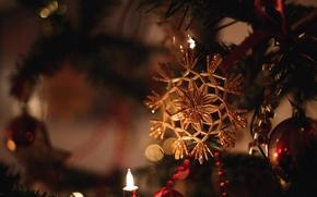 Картинка ёлка, праздник, игрушка