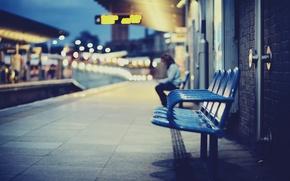 Картинка город, вокзал, кресла