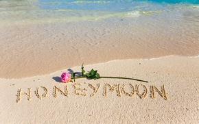 Картинка песок, пляж, love, beach, romantic, sand, tropical, honeymoon