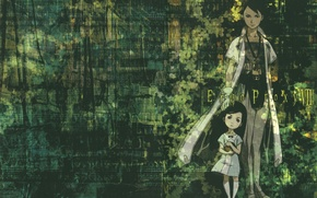Картинка робот, ребенок, халат, ergo proxy, Эрго Прокси, daedalus yumeno, pino