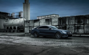 Картинка car, Mercedes-Benz, black, CLS550