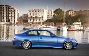 Картинка car, авто, бмв, набережная, bmw m3, E36, auto wallpaper