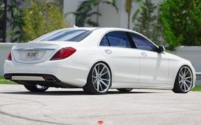Картинка машина, авто, Мерседес, Mercedes, Benz, wheels, диски, auto, корма, Vossen Wheels