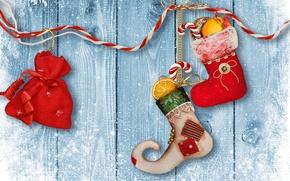 Картинка зима, снег, игрушки, Новый Год, Рождество, Christmas, wood, winter, snow, decoration, Merry