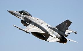 Картинка истребитель, взлет, Fighting Falcon, F-16C