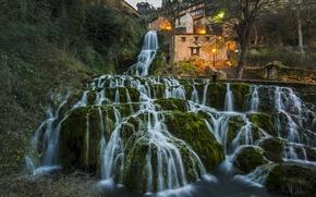 Картинка водопад, Испания, каскад, Spain, Бургос, Orbaneja del Castillo, Burgos, Орбанеха дель Кастильо