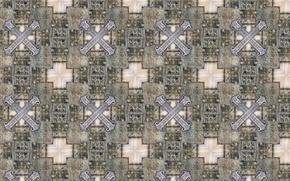 Картинка фон, стена, узоры, камень, плитка, крест, текстуры, орнамент, квадрат, барельеф