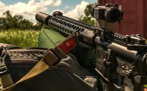Картинка оружие, прицел, штурмовая винтовка