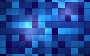 Обои квадраты, Синий