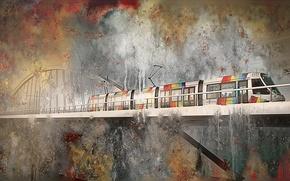 Картинка фон, abstract, Apocalypse sur Angers