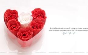 Картинка любовь, сердце, розы, день Святого Валентина