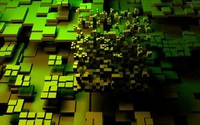 Обои fantasu, зелёный, абстракции