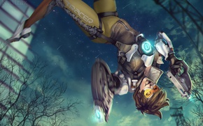 Картинка Game, Blizzard Entertainment, Overwatch, Tracer