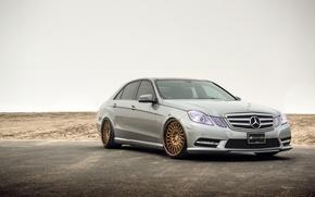 Картинка Mercedes, wheels, E-class, мерседес, E350, frontside
