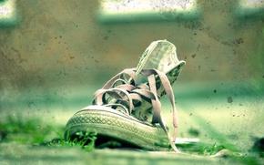 Картинка кеды, Трава, Зеленый, пятна