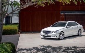 Картинка белый, Mercedes, white, E-class, мерседес, E350