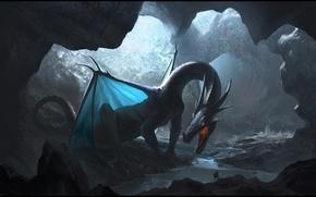 Картинка свет, дракон, пещера, lair