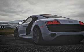 Картинка audi, hdr, power, plane, track, german, motorsport, forza, screenshot, contrast, topgear