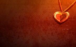 Картинка любовь, сердце, Минимализм