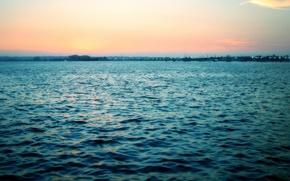 Обои море, волны, восход