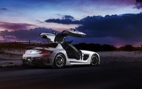 Картинка car, мерседес, Mercedes SLS, tuning, автообои, Black Series, William Stern, RennTech