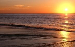 Обои море, солнце, восход