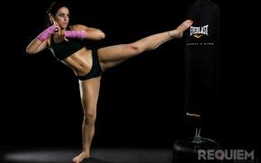 Картинка girl, workout, kick, kickboxing