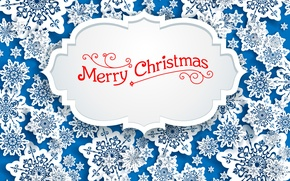 Картинка Снежинки, Vector, Merry Christmas