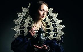 Обои портрет, Ann, арт, renaissance