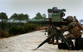 Картинка оружие, солдаты, ракетный, комплекс, тяжёлый, Saber, противотанковый, M41A4