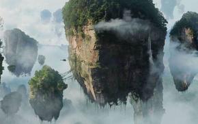 Обои аватар, отрова, avatar, скалы, облака