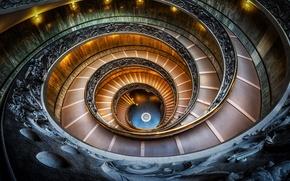 Картинка спираль, Италия, лестница, Ватиканский музей