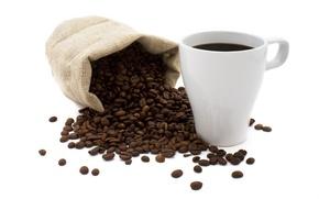 Картинка кофе, зерна, мешок