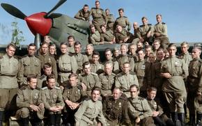 Картинка лётчики, воздушные стрелки, 566-ой штурмовой авиационный полк, штурмовик Ил-2