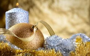 Картинка шары, елка, Новый Год, Рождество, мишура, Christmas, New Year, decoration