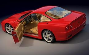 Обои открыта, дверка, Ferrari