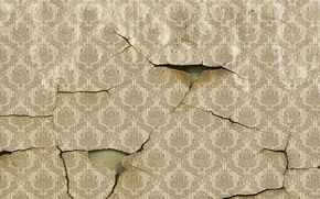 Обои стена, обои, трещины
