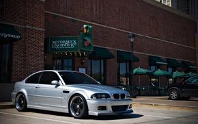 Картинка тюнинг, бмв, BMW, silver, tuning, E46