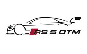 Картинка ауди, audi, рисунок, DTM, motorsport, rs 5 dtm