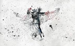 Картинка Танец, Смерть, Кляксы