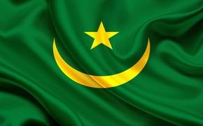 Картинка Флаг, Мавритании, Mauritania