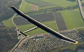 Картинка самолет, solar impulse, солнечная энергия