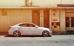 Картинка Lexus, wheels, side, black, металлик, лексус, vossen, IS250